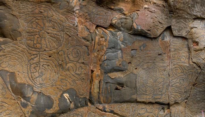 petroglifos de la palma