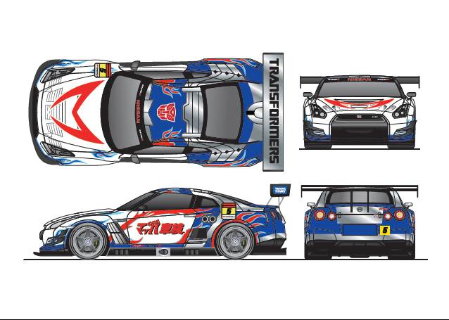 Team Mach's Super GT with Transformers deco