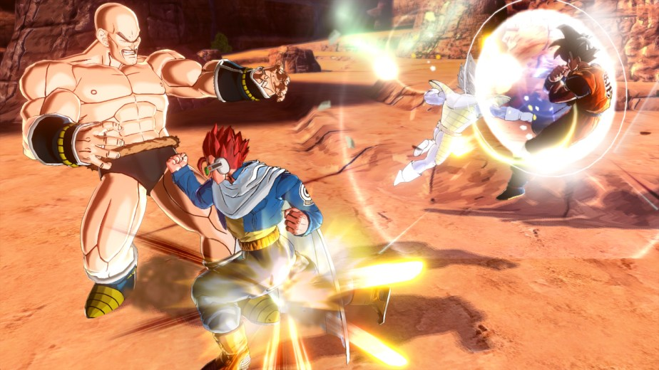 Battle with Nappa and Vegeta
