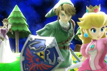 Zelda, Link, Peach - SSB Wii U