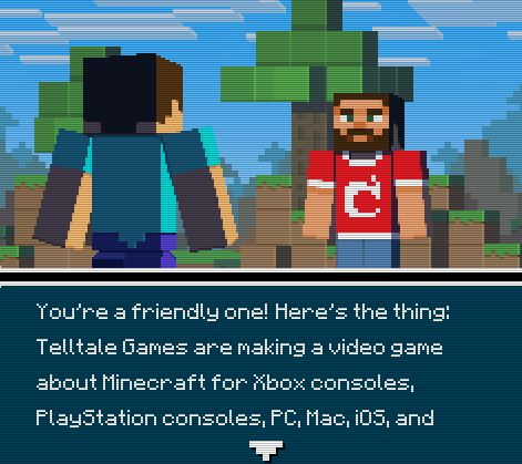 """""""Info Quest 2"""" - About """"Minecraft: Story Mode"""""""