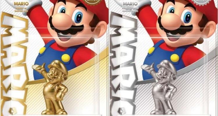 Amiibo Super Mario - en oro y plata