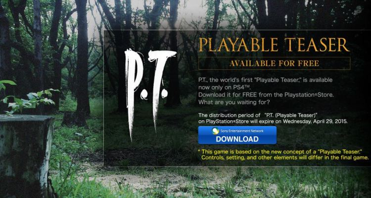 Konami plans to remove Silent Hills' Playable Teaser from PSN