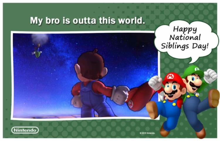 Nintendo celebrates National Siblings Day with a Smash sweeps