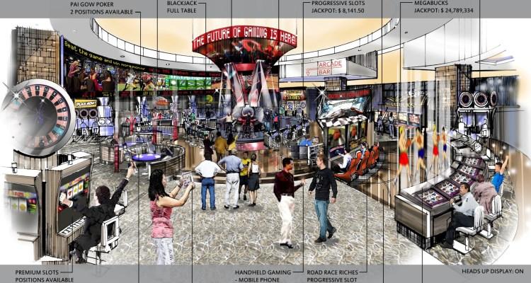 Konami está contento con la aprobación del proyecto de ley de máquinas tragamonedas de destrezas en Nevada - Imágen: El futuro de los juegos (Asociación de Fabricantes de Equipos de Juegos de Azar)