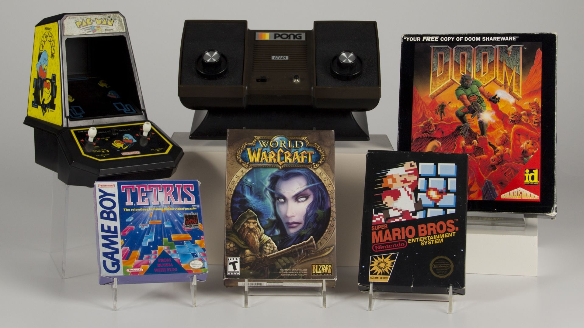 The six inductees of the 2015 World Video Game Hall of Fame