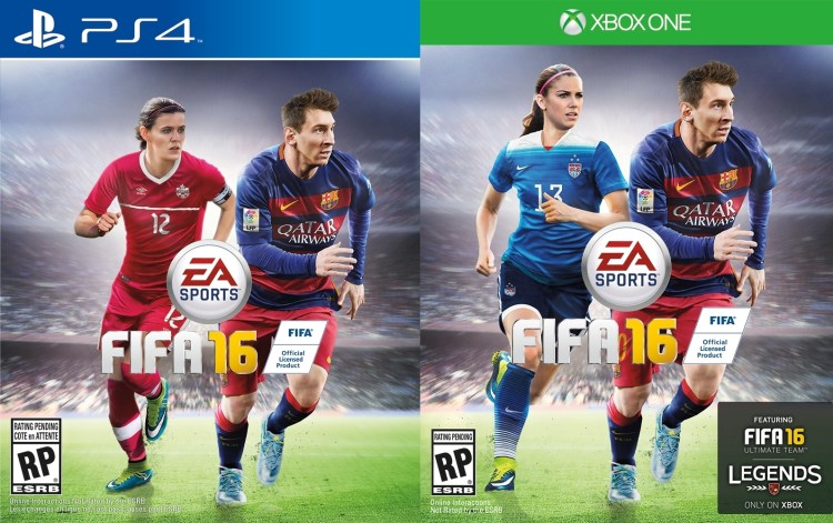 Alex Morgan and Christine Sinclair become the first female cover athletes for EA Sports FIFA