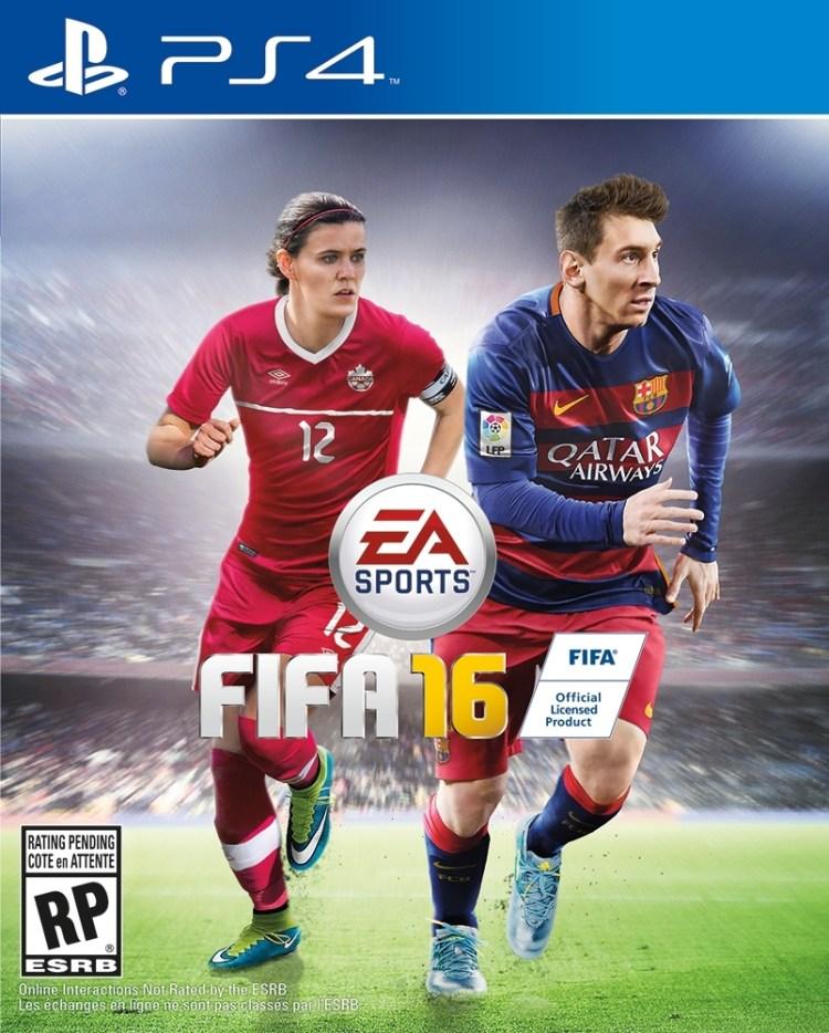 EA Sports FIFA 16: Christine Sinclair & Lionel Messi - Canadian Cover