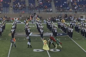UC Davis Marching Band brings Smash Bros. songs to halftime show
