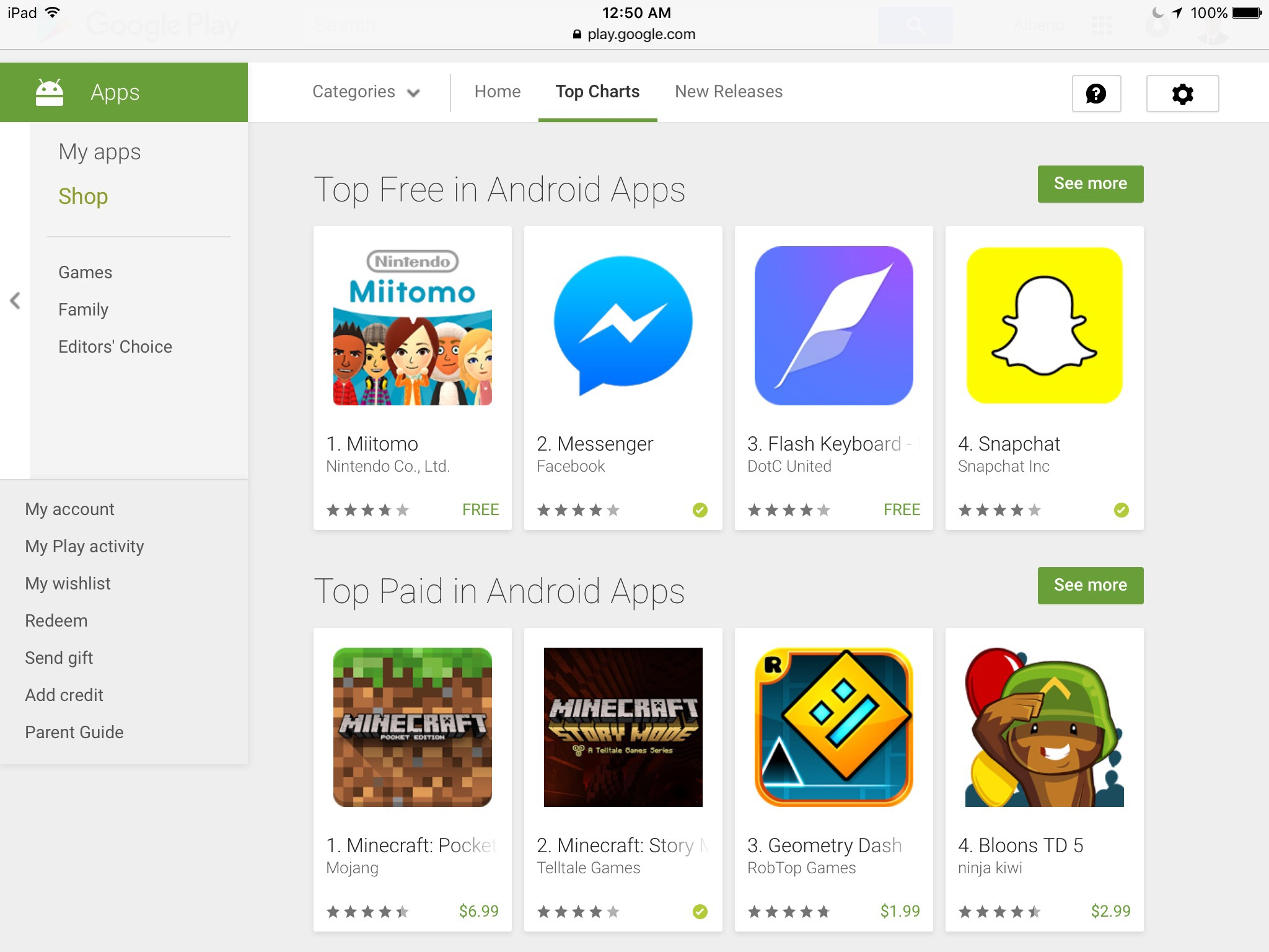 Google Play: Top Charts