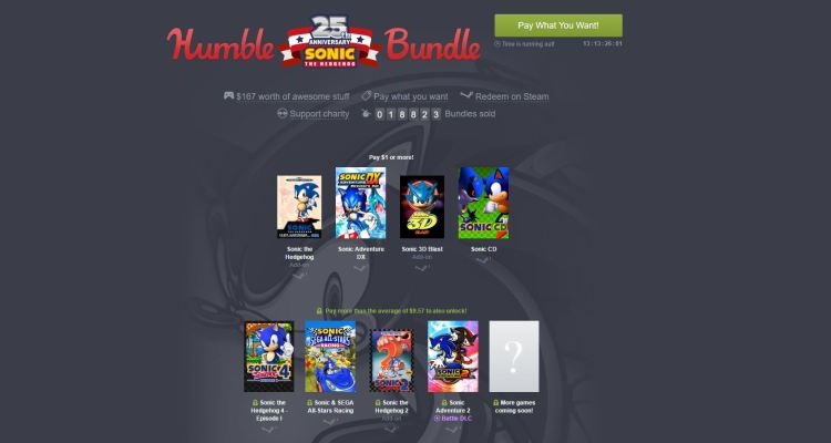Sega is offering a collection of Sonic games for $10