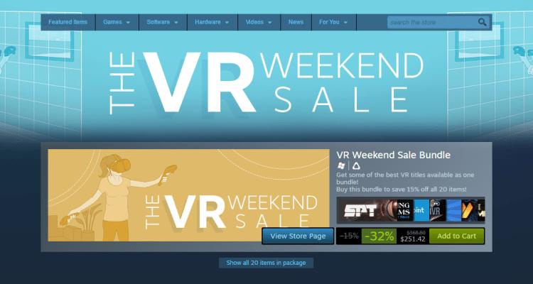 Steam VR Weekend Sale