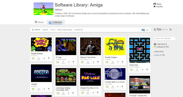 Internet Archive now offers more than 2000 Commodore Amiga games for free