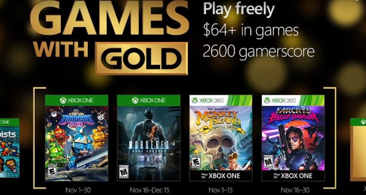 Xbox Live Games With Gold For November 2016