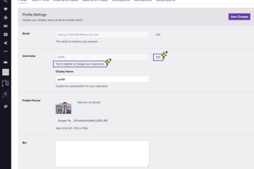 Twitch now lets users change username