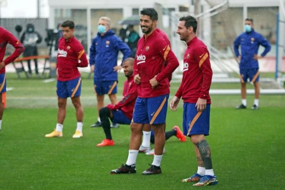 Luis Suarez Leo Messi Barca entrenament @FCB