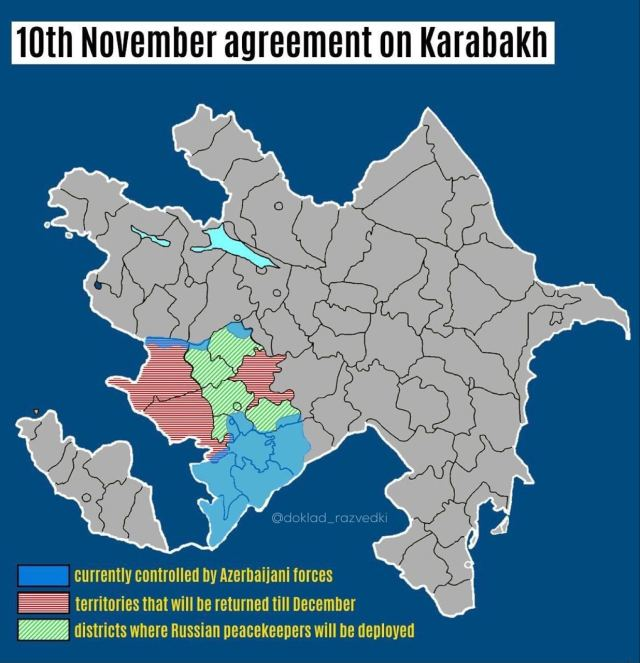 mapa nagorno karabakh