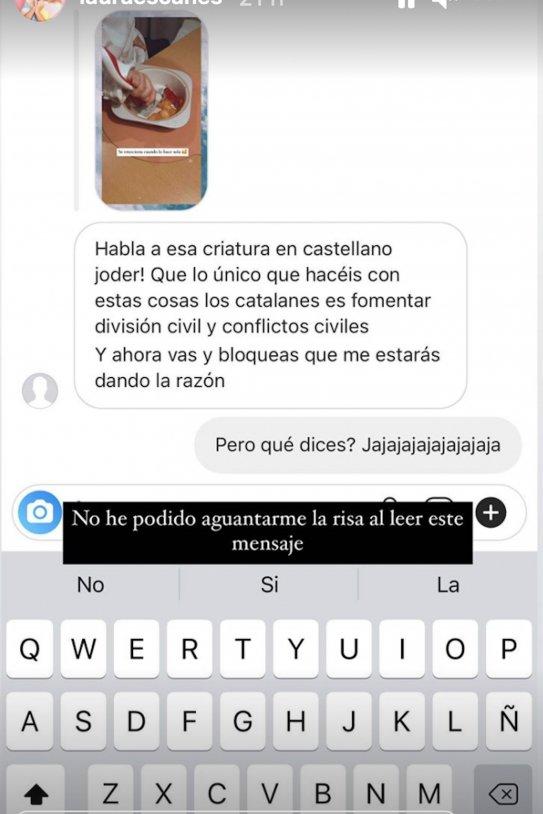 Laura Escanes insults per parlar en català a la seva filla @lauraescanes