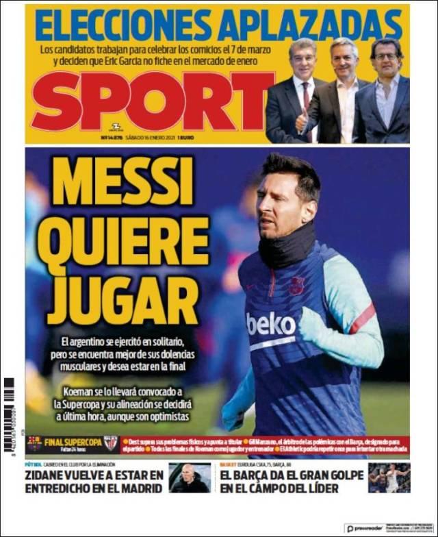 Sport Portada 16 01 2021