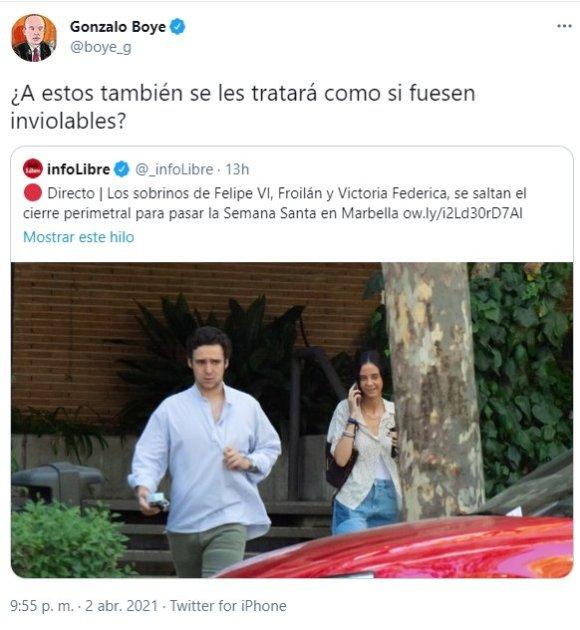 tuit Gonzalo Boye Victoria Froilán