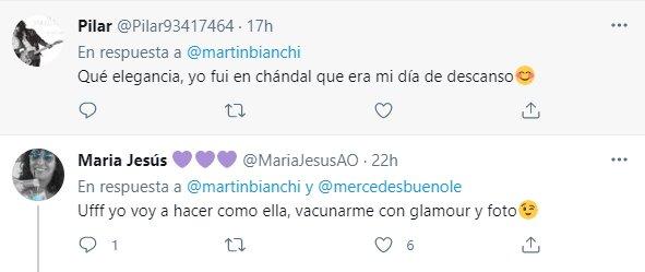tuit Norma Duval vacunándose 3