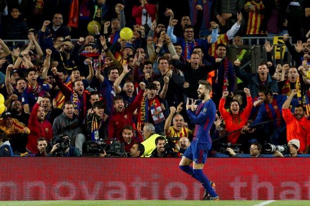 Gerard Piqué gol Roma Barça Champions EFE