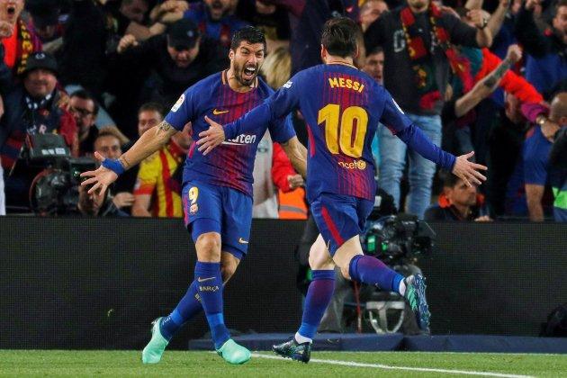 Messi Suarez Barça Madrid gol EFE