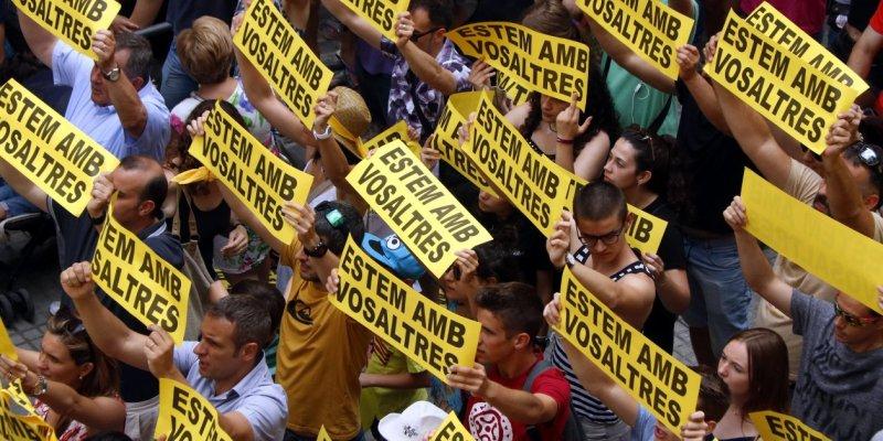 Diada Castellera Sant Joan Presos Politics Acn