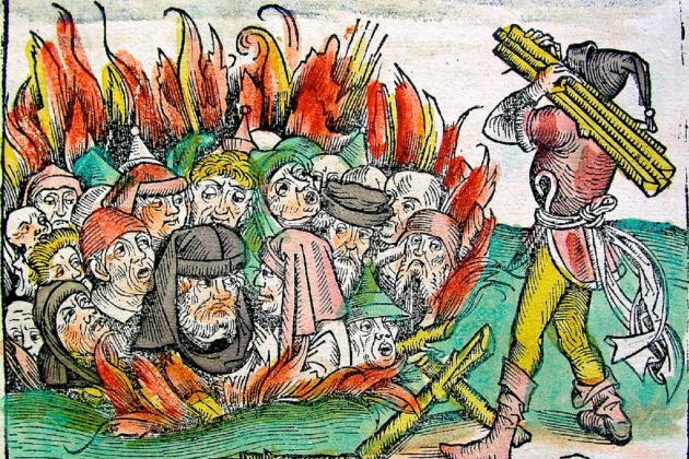 Representació coetània d'un pogrom. Font Wikipedia