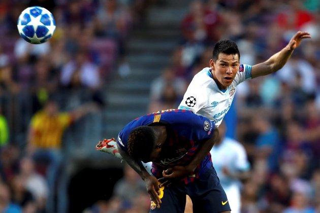 Hirving Lozano Barça PSV Champions EFE