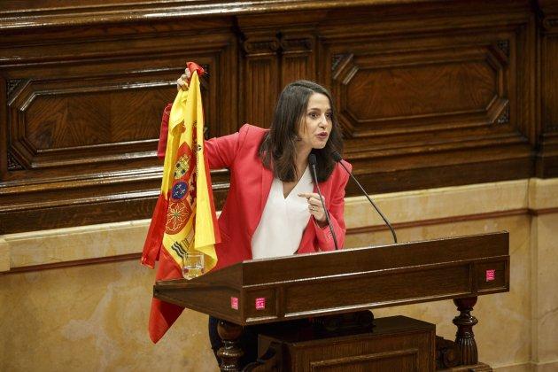 Ines Arrimadas CIutadans Bandera espanyola Sergi Alcazar48