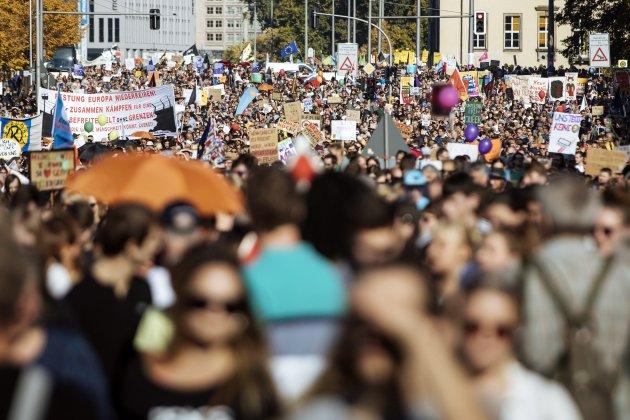 manifestació antifeixista Berlin 2 EFE