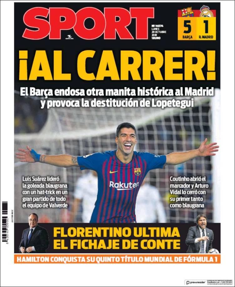 Sport Portada 29 10 2018