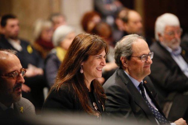ELNACIONAL Quim torra Laura Borràs acte centenari biblioteques - Sergi alcàzar