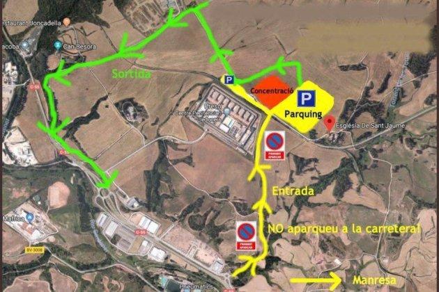 Mapa pla de Lledoners per la trobada d'autocaravanes