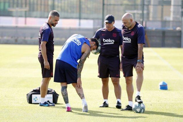 Leo Messi entrenamiento lesión Barça FC Barcelona