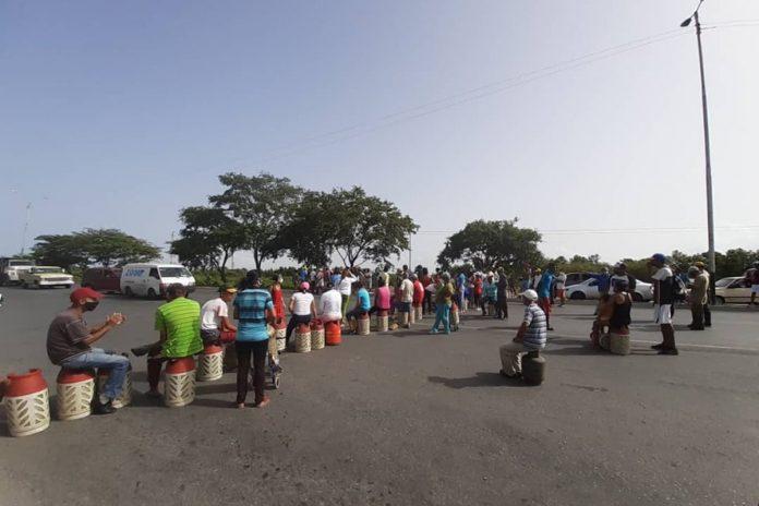 protesta en cumaná por gas detenido servicios