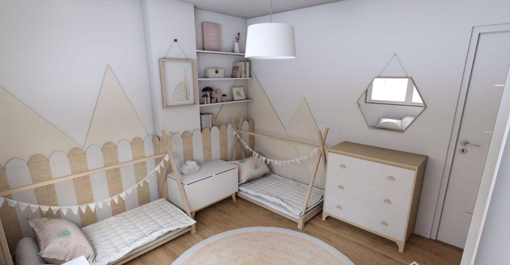 Dormitorio infantil de estilo Montessori