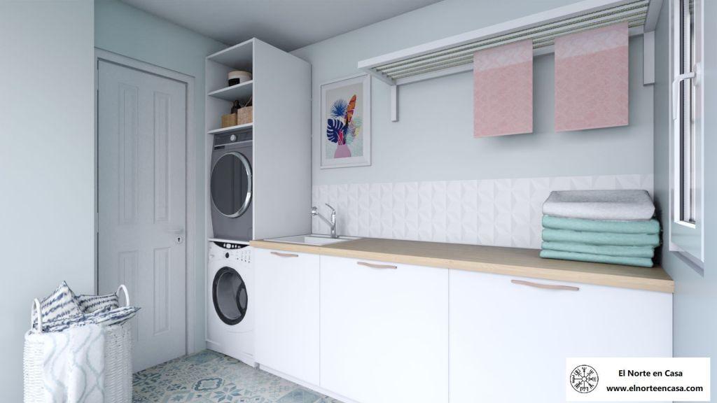lavanderia con muebles de ikea