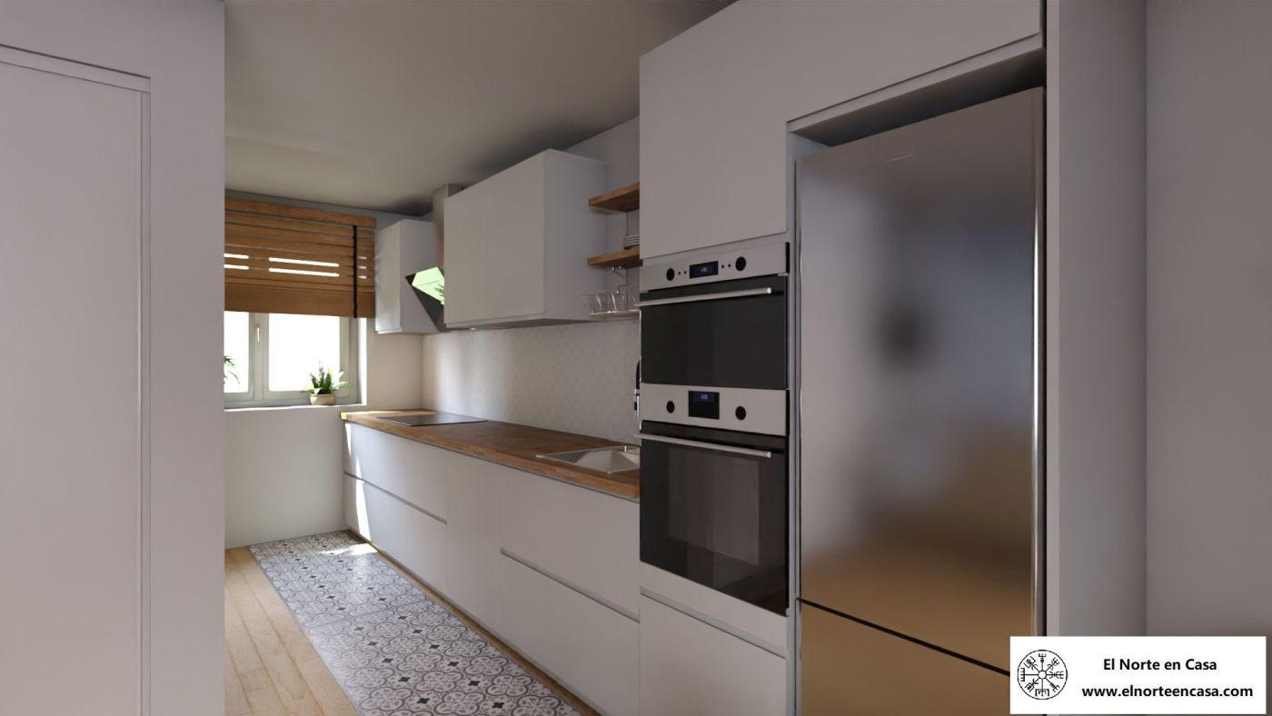 Cocina de Ikea Voxtorp blanco de estilo nórdico