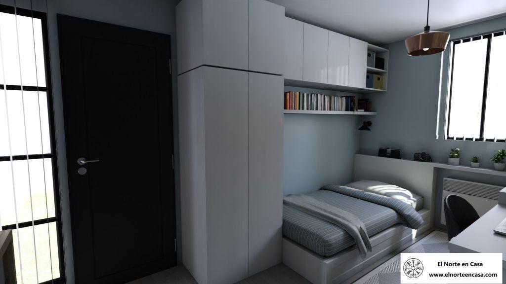 Armarios y almacenaje del dormitorio de la minicasa