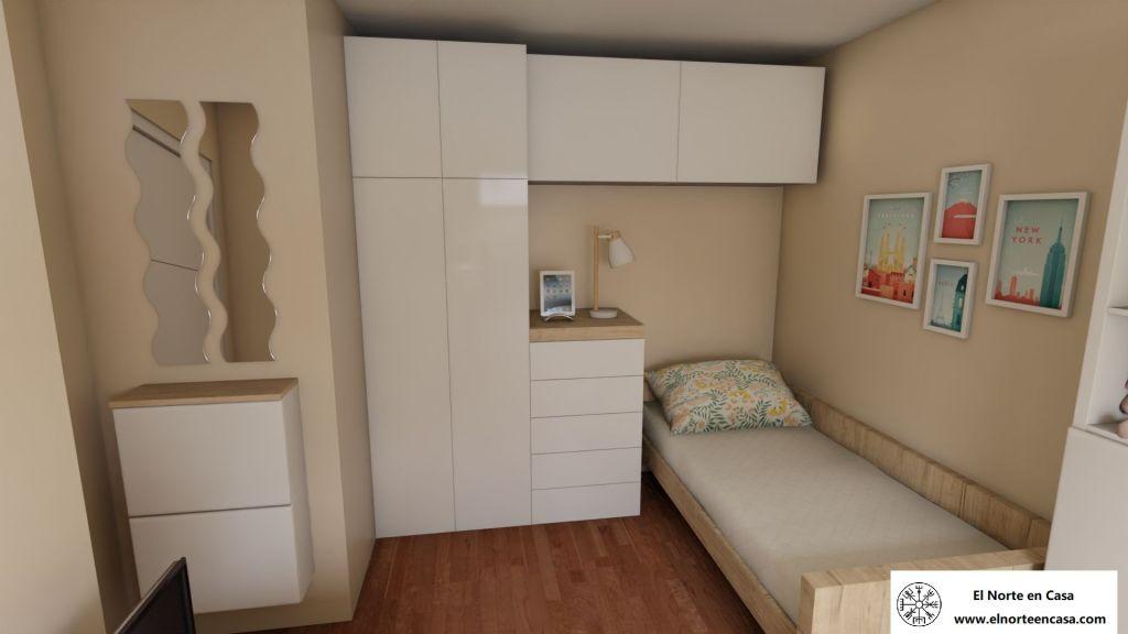 dormitorio con dos camas nido
