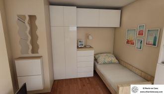 dormitorios infantiles con muebles de Ikea