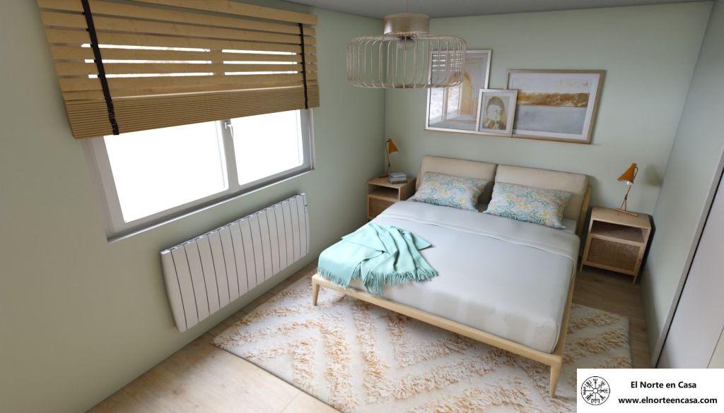 dormitorio de matrimonio de estilo nórdico