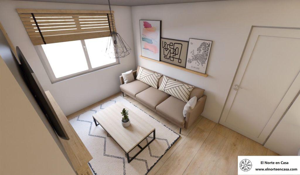 salón acogedor en casa de estilo escandinavo