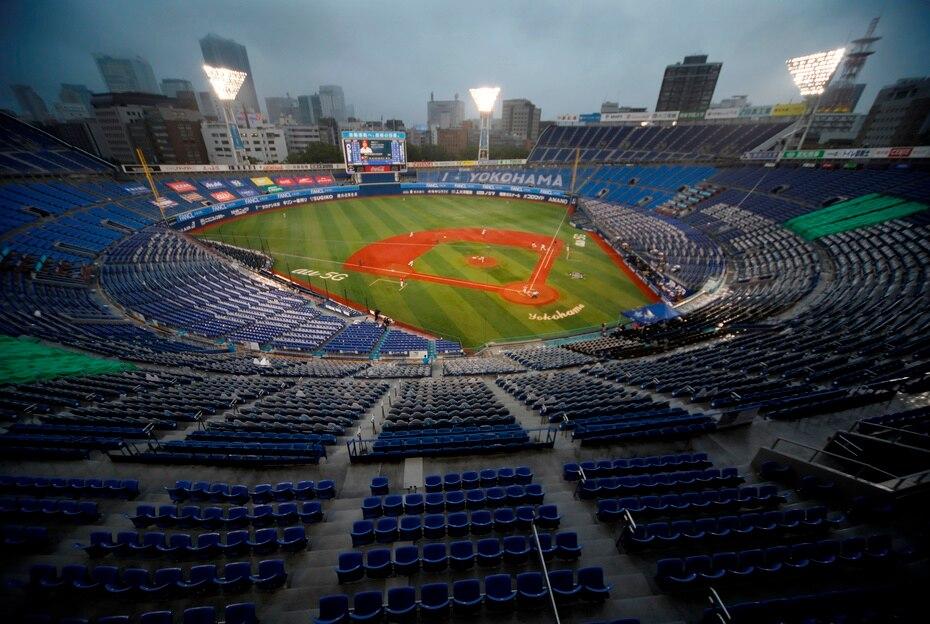 El estadio de béisbol de Yokohama, una de las sedes del béisbol y sóftbol.