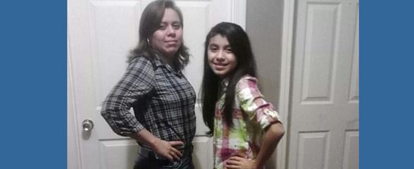 Azucena Yanez y su hija, fueron sacadas de su casa a las 5 de la mañana en Carrollton.