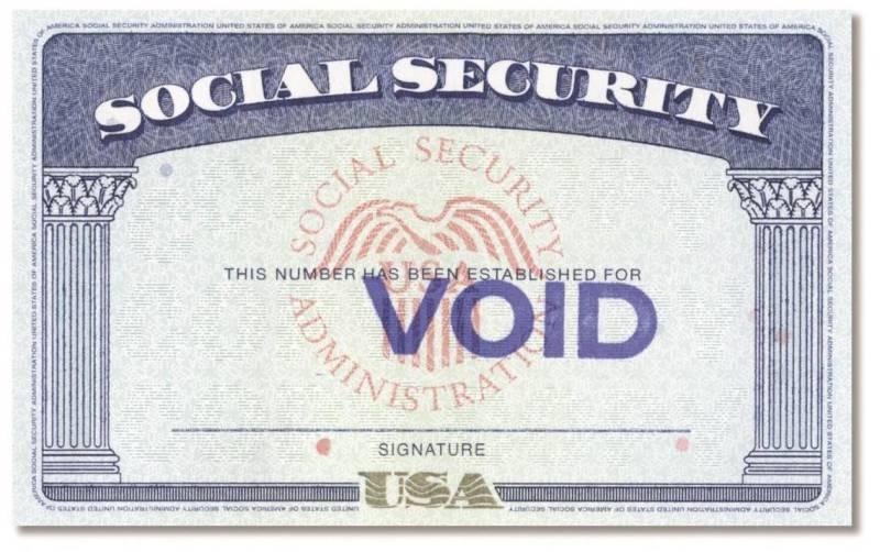 ilustración de la tarjeta de Seguro Social.