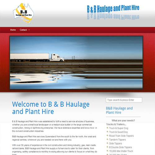 Haulage Website