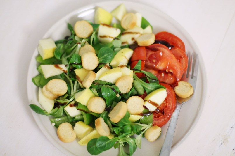 salade pomme tomate crouton